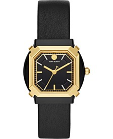 Women's Blake Black Leather Strap Watch 34mm