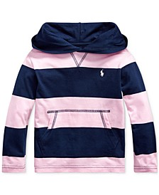Toddler Boys Striped Cotton Hooded T-Shirt