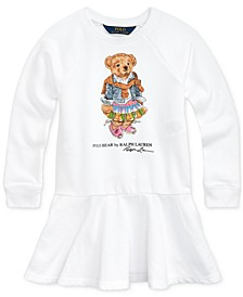 Little Girls Madras Bear Terry Dress