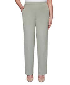 Chesapeake Bay Pull-On Straight-Leg Pants
