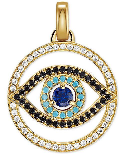 Michael Kors 14k Gold-Plated Pavé & Stone Evil Eye Charm