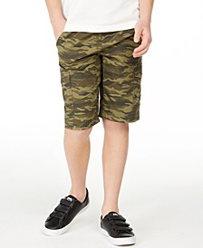 Big Boys Camouflage Canvas Cargo Shorts, Created for Macy's
