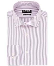 Men's Ultraflex Slim-Fit Non-Iron Stretch Pink Stripe Dress Shirt