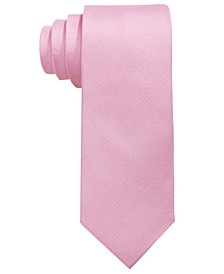Big Boys Pink Solid Silk Oxford Tie