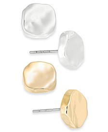 Two-Tone 2-Pc. Set Sculptural Stud Earrings, Created for Macy's