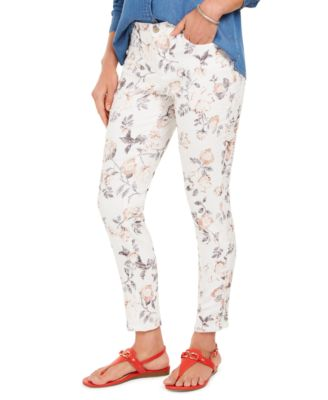 Printed Jacquard Bristol Skinny Ankle Jeans, Created for Macy's