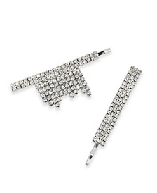 INC Silver-Tone 2-Pc. Set Crystal Fringe Bobby Pins, Created for Macy's