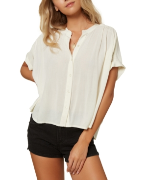 O'neill Shelly Woven Blouse In Winter White