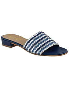 Eli-Italy Woven Slide Sandals