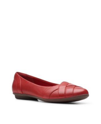 Red Color NEW Women Casual Faux Leather Ballet Flat Shoes Size 6-10,