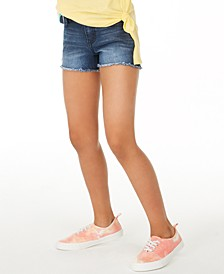 Big Girls Denim Shorts with Rainbow Wallet Belt, Created for Macy's