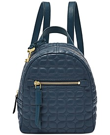 Megan Mini Leather Quilted Backpack