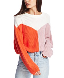 Crewneck Colorblocked Sweater