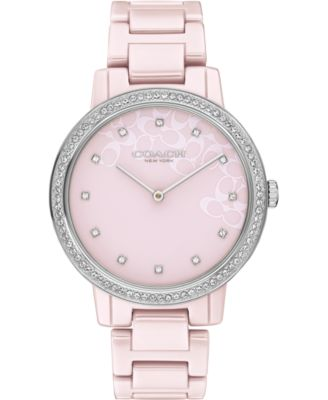 코치 여성 손목 시계 COACH Audrey Blush Ceramic Bracelet Watch 35mm