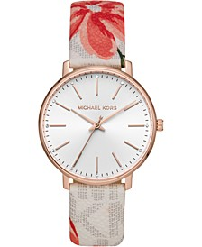 Women's Pyper Floral PVC Strap Watch 38mm