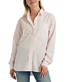 Cotton Relaxed One-Pocket Shirt