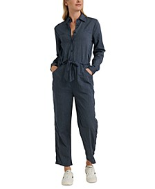 Logan Cotton Striped Jumpsuit