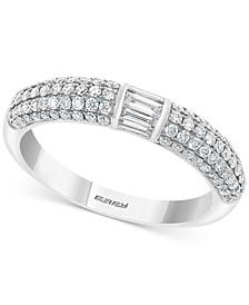 EFFY® Diamond Baguette & Pavé Statement Ring (3/4 ct. t.w.) in 14k Gold