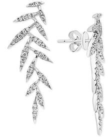 EFFY® Diamond Leaf Drop Earrings (1/2 ct. t.w.) in 14k White Gold