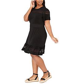 Michael Michael Kors Plus Size Mesh Mix Dress