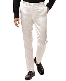 Men's Slim-Fit Ivory Pants