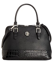 Saffiano Croco Dome Satchel, Created for Macy's