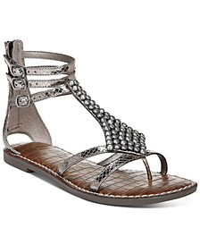 Ginger Beaded Gladiator Sandals