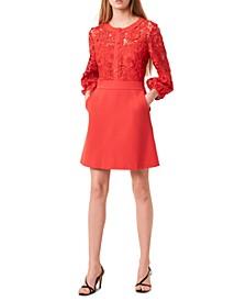 Lace-Combo Dress