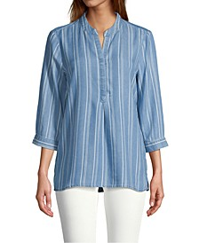 Chambray Popover Top
