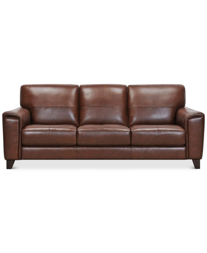 """Furniture Brayna 88"""" Leather Sofa, Created for Macy's & Reviews - Furniture - Macy's"""