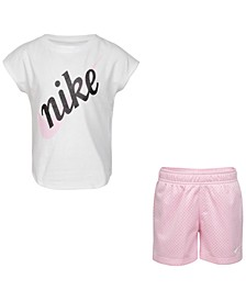 Toddler Girls 2-Pc. Script Futura T-Shirt & Shorts Set