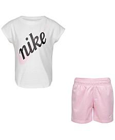 Toddler Girls 2-Pc. Script Futura T-Shirt & Shorts Set