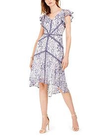 Taylor Petite High-Low Lace Dress