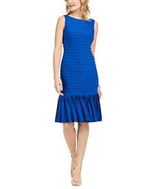 Drop-Waist Pleated Dress