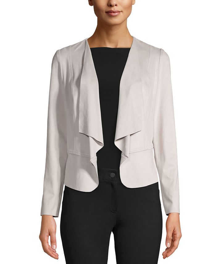 Anne Klein - Drape-Front Jacket
