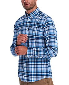 Men's Tailored-Fit Madras Plaid Shirt