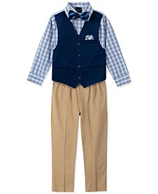 Toddler Boys 4-Pc. Twill Vest Set