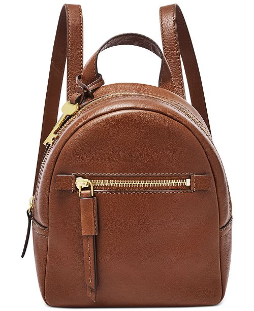 Fossil Megan Mini Leather Backpack