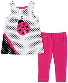 Little Girls 2-Pc. Ladybug Tunic & Leggings Set
