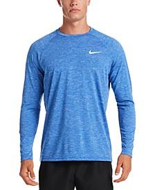 Men's Heather Hydroguard Long Sleeve Swim T-Shirt