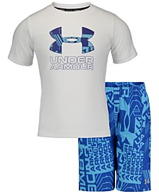 Toddler & Little Boys 2-Pc. Rash Guard & Swim Trunks Set