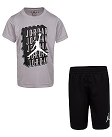 Little Boys 2-Pc. Dri-FIT Jumpman T-Shirt & Shorts Set
