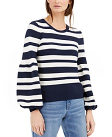 INC Striped Ottoman Sweater, Created for Macy's
