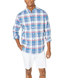 Men's Classic-Fit Casual Plaid Shirt