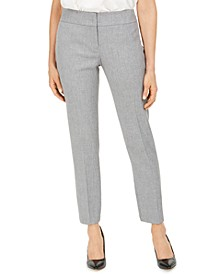 Carly Textured Straight-Leg Dress Pants