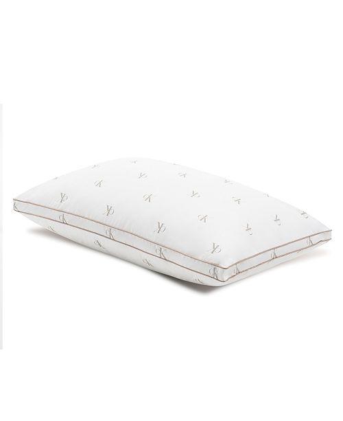 Calvin Klein Monogram Logo Medium Support Cotton Pillow, King
