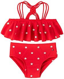 Baby Girls 2-Pc. Nina Star-Print Bikini Swimsuit