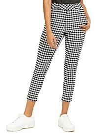 Junior's Roll Cuff Worker Cropped Skinny Pants