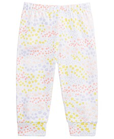 Baby Girls Cotton Wildflower Jogger Pants, Created for Macy's