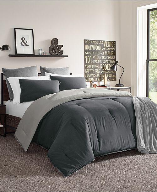 Nautica Solid Reversible Twin Comforter Set